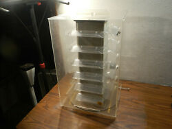 Acrylic Slot Cars Car Jewelry Display Stand Rotating Countertop Cabinet Case