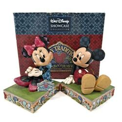 Disney Mickey And Minnie Mouse Bookends From Showcase Collection By Jim Shore Htf