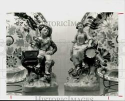 1984 Press Photo Staffordshire Figurines for Theta Charity Antique Show