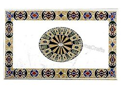 36 X 60 Inches Marble Dining Table Top Mosaic Art Meeting Table For Living Room