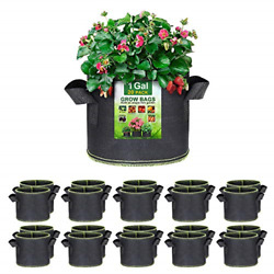 Sunarea 20-pack 1 Gallon Grow Bags, Thickened Nonwoven Aeration Fabric Pots With