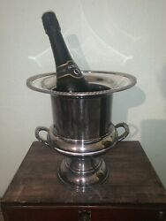 Good Quality Vintage Silver Plate On Copper Ice Champagne Bucket. Sheffield Made