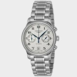Longines Conquest L36974766 Chronograph Silver Dial Stainless Steel Mens