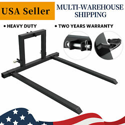 3 Point Hitch Pallet Fork 1500 Lbs Adjustable Attachments For Category 1 Tractor