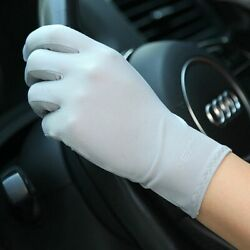 Ladies Sunscreen Gloves Thin Ice Silk Spring Non-slip Breathable For Driving Kit