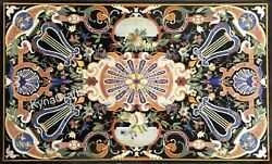 36 X 60 Inches Marble Kitchen Table Marquetry Art Dining Table Top For Home