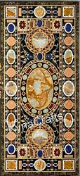 30 X 72 Inches Marble Kitchen Table Antique Pattern Dining Table Top For Home