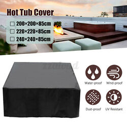 240cm Waterproof Anti-uv Hot Tub Dust Spa Cover Square Durable Protective Guard