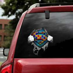 Autism Awareness Sticker, Autism Dad Sticker, Autism Family Gifts, Car Gifts.