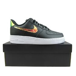 Nike Air Force 1 And03907 Iridescent Pixel Black New Cv1699-002 Multiple Mens Size