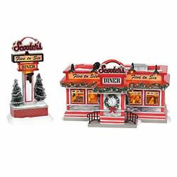 Department 56 Original Snow Village Scooter's Diner Animated Lit Building And
