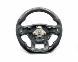 Ford F-150 Oem Steering Wheel | Carbon Red Stripe Red Stitch Perf Grips