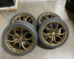 Vr Forged D05 Wheel Set Gloss Black 20/21in W/toyo Tires Fits Mercedes Amg Gt