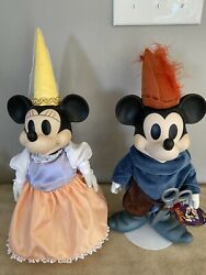 Disney Brave Little Tailor Mickey And Minnie Mouse Musical Porcelain Dolls