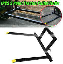 1pcs 3 Point Hitch Pallet Fork 1500 Lbs Capacity Attachments Category 1 Tractor