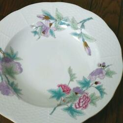 Herend Royal Garden Turquoise Soup Pasta Plate Ordered Rare New Unused