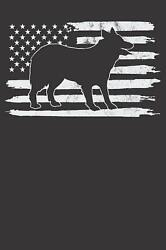 Notebook: Border Collie Shirt USA Flag 4th of July Dog Dot Grid 6x9 120 Pages by