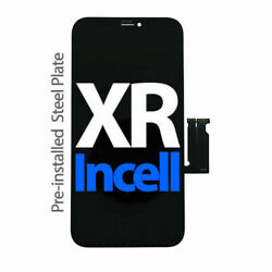 For Iphone Xr Lcd Display Touch Screen Replacement With Back Metal Plate Black
