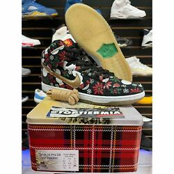 Nike Sb High Ugly Christmas Sweater Special Box Sz 13 Brand New Cold Pizza What