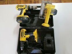 Dewalt Dc970 18v Cordless 1/2 Drill, Dw936 And Dc988 W/ Battery Free Shipping