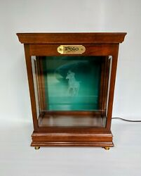 Vintage 1980s Polo Table Top Lighted Cologne Store Display Case