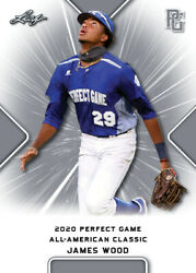 10 Ct Lot 2020 James Wood Leaf Perfect Game Nike Aa Classic Aflac All Star Game