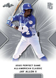 10 Ct Lot 2020 Jay Allen Ii Leaf Perfect Game Nike Aa Classic Aflac All Star Gam