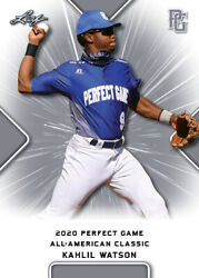 10 Ct Lot 2020 Kahlil Watson Leaf Perfect Game Nike Aa Classic Aflac All Star Ga