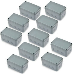 10pcs Electronic Junction Box Waterproof Project Enclosure Box Abs 181x111x100mm