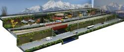 Postage Included Exhibition Stand For Gauge Model Railroad 120x45 Tracks