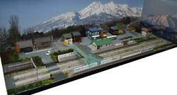 Exhibition Stand For Gauge Model Railroad Showa Townscape With Overt Bridge