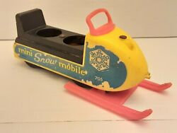 705 Play Family Mini Snowmobile Vintage Fisher Price Little People