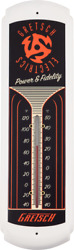 Gretsch Guitars Power And Fidelity Old School Tin Thermometer - Made In Usa