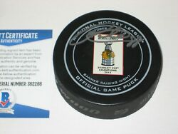 Patrick Kane Signed 2013 Banner Night Official Game Puck W/ Beckett Coa