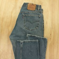 Vtg Usa Made Levi's 501 Stf Denim Jeans 33 X 31 Actual 36 X 32 Tag Button Fly
