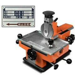 Embossing Machine Metal Aluminum Alloy Name Plate Manual Steel Dog Tag Id Cards