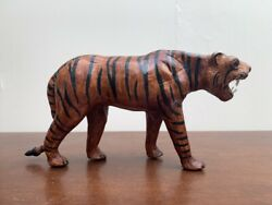 Vintage Decorative Leather Hand Wrapped Tiger Wild Jungle Collectable Decor