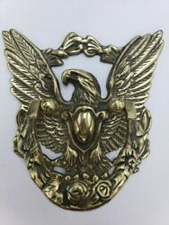 Vintage Solid Brass Eagle Door Knocker Made In Japan 6×6 ⭐ Ships Quickly