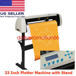 33 Inch Plotter Machine 850mm Paper Feed Vinyl Cutter Sign Cutting With Stand Us