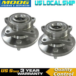 Moog Front Wheel Hub And Bearing Assembly Pair For Land Rover 05-09 Lr3 10-14 Lr4