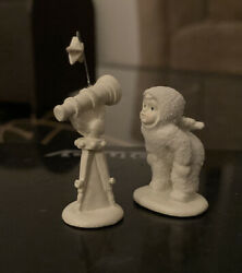 """Snowbabies """"i See You…."""" Set Of 2 Hand Painted Pewter Retired Dept 56 Free Ship"""