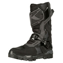 Klim Adventure Gtx Stealth Black Motorcycle Boots Motorcycle Boots - New Fre...