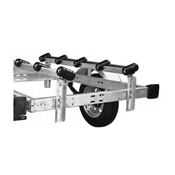 2 Pack 5 Ft Boat Trailer Roller Bunks Ramps Guide Max 1500 Lbs Preassembled Pair