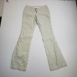 Paper Denim And Cloth Womens 26x32 Slim Chino Jeans Bootcut Pants Light Wash Beige