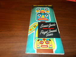 1955 Puget Sound Area / Washington State Ferries Vintage Brochure And Map