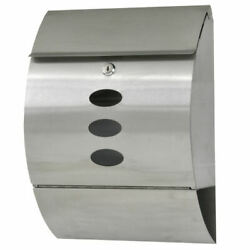 Wall Mount Mail Box Post Letter Box Locking Wall Mounted Stainless With Key Lock