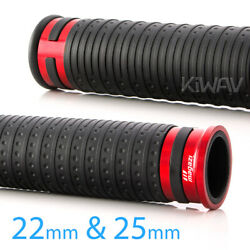 Cyber Style Grips Black Tpr +red Aluminum Trim 22mm X1 +25mm X1 Fits Bobber