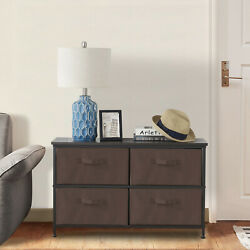 Wooden Table Top Bedside Table Dresser Storage Tower Storage Box With 4 Drawers