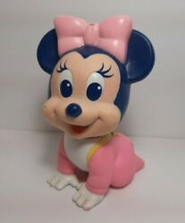 Vintage 1984 Arco Disney Baby Minnie Mouse Squeeky Toy 5 3/4 Tall Bath Toy