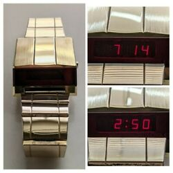 Bulova Computron Watch Led Driver's Watch Excellent Condition And Runs Great 1976